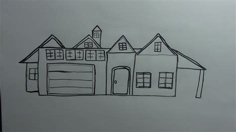 drawing a house how to draw a house youtube