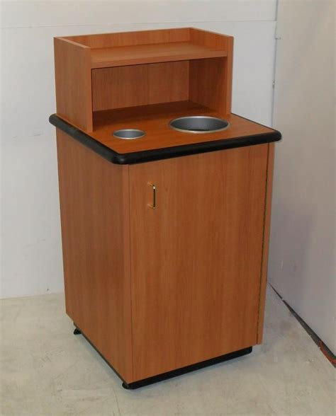 Cabinet Receptacle by Plymold Restaurant Waste Trash Can Recycle Receptacle With
