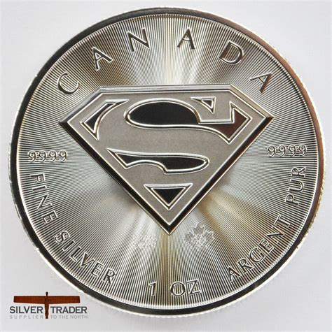 1 ounce silver bars canada 2016 canadian superman unc 1oz troy ounce silver