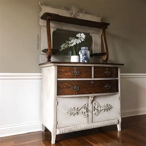 sold antique victorian buffet  mirror traditional