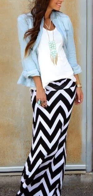 Lovely Fashion ft cloth箘ng lovely fashion with chevron maxi skirt