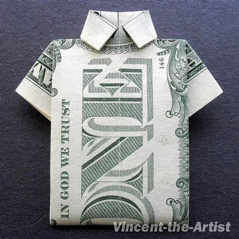 Shirt Money Origami - polo shirt money origami dollar bill