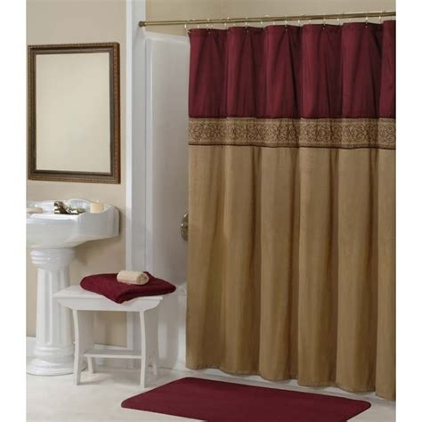 Addison Gold Maroon Shower Curtain 15743831 Overstock