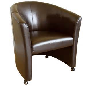 wholesale interiors faux leather club chair with wheels