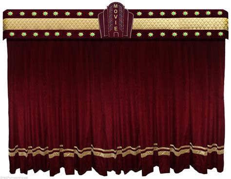 Curtains For Home Theater saaria burgundy 01 velvet marque decorative curtains stage events school church ebay