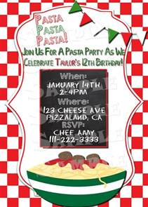 printable quot pasta party invitation quot italian themed party