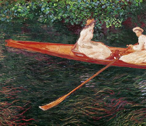 boating on the river epte boating on the river epte painting by claude monet