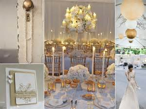 white and gold blanc et or mariage