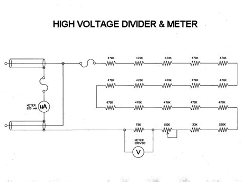 high voltage divider digital high voltage low current meter