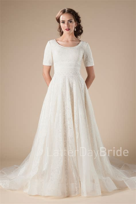 Modest Wedding Dresses by Modest Wedding Gowns Neville