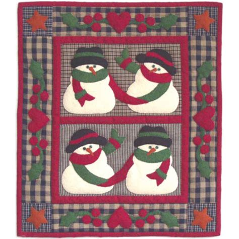 Applique Quilt Kits by Snow Friends Wall Hanging Applique Quilt Kit