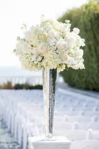flower vases centerpieces white and hydrangea centerpiece in a silver
