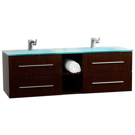 savona 60 quot wall mounted bathroom vanity set vm