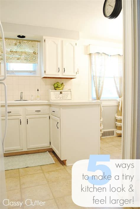 5 ways to make a tiny kitchen look and feel larger clutter