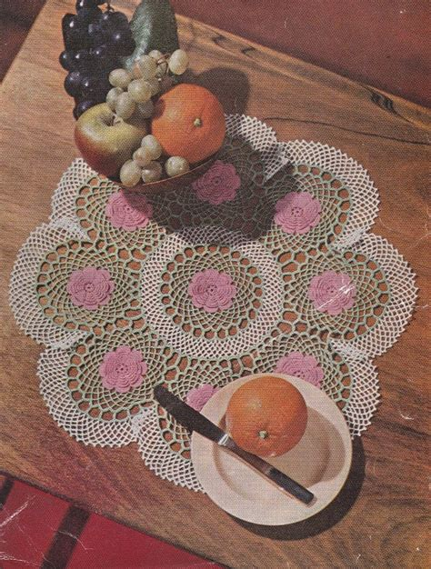 free crochet rose bag pattern ring of roses doily crochet pattern crochet kingdom