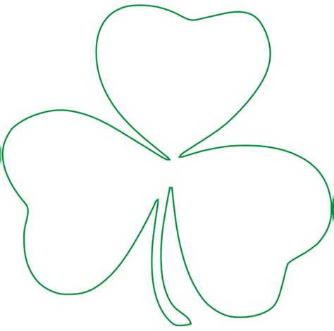 totetude shamrock outline clip art at clker com vector