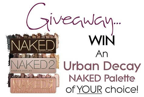Urban Decay Giveaway - giveaway win an urban decay naked palette of your choice