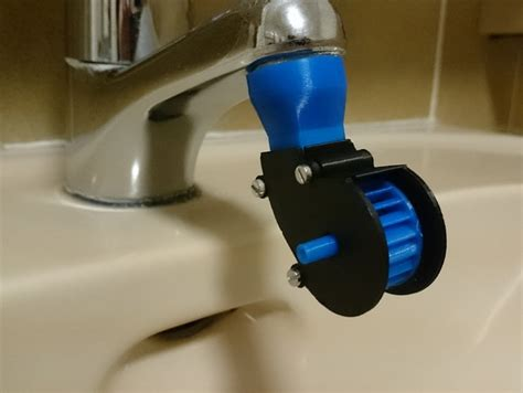 Single Jet Small Water Turbines Mini Water Tap Turbine By Jasper Pues Thingiverse