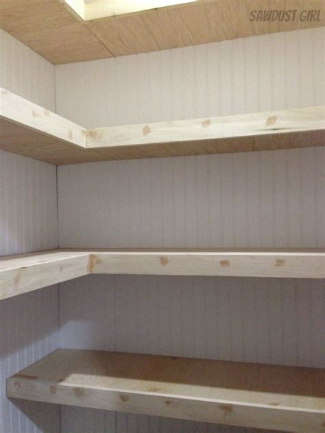 Building Pantry Shelves Design by How To Build Corner Floating Shelves Sawdust 174