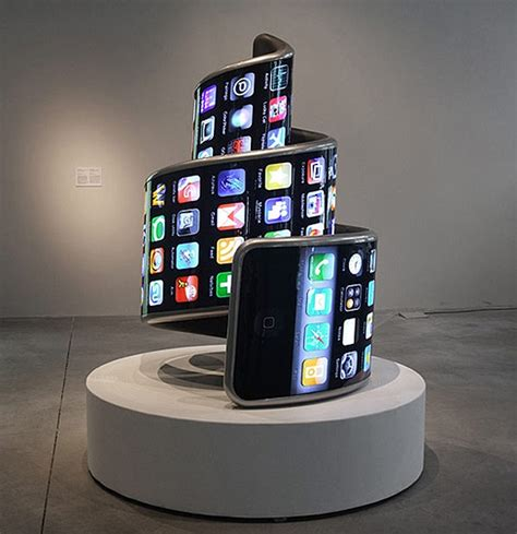 twisted technology deformed iphone    spiraling