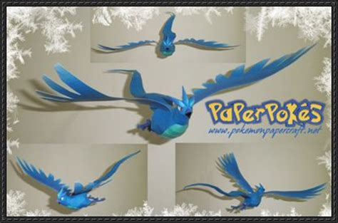 Zapdos Papercraft - articuno free papercraft