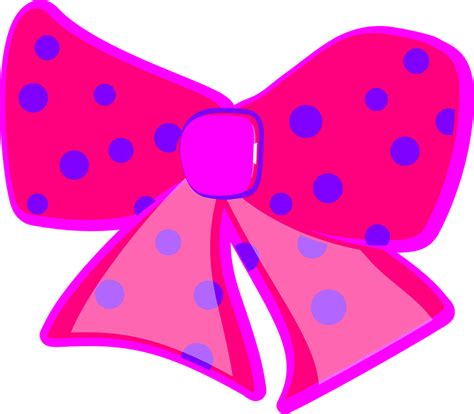 Bow Pita Pink by Free Vector Graphic Ribbon Pink Bows Dotted