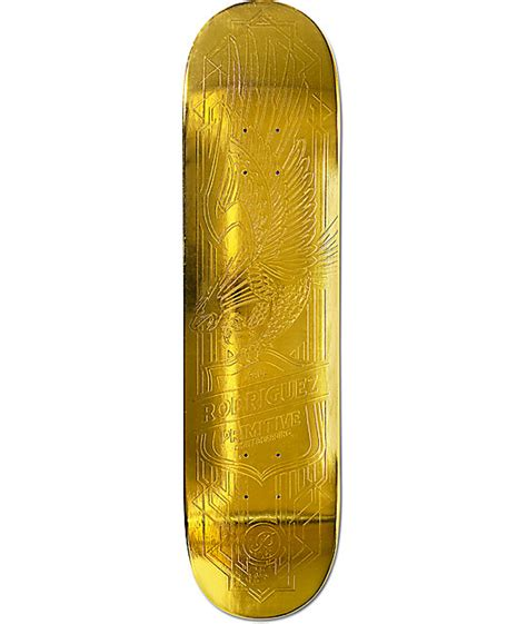 gold skateboard deck primitive p rod gold eagle 8 0 quot skateboard deck at zumiez