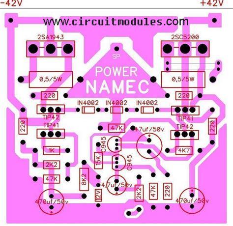 Kit Mono Aktif Speaker Tip 41 42 Ori Dms 990 lifier circuits diagrams namec circuit diagram and layout modules