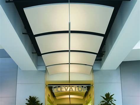 Curved Ceiling by Acoustic Ceiling Clouds Optima Canopy Curved By Armstrong
