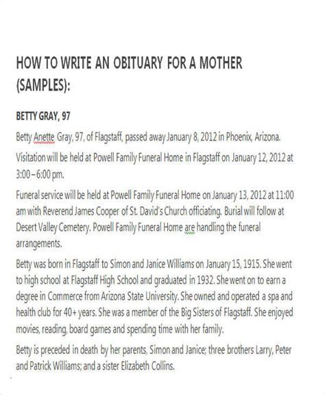 obituary template for sle obituary for template business
