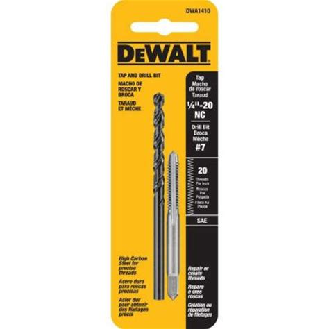 Kitchen Faucets Black by Dewalt 7 Drill And 1 4 In X 20 Nc Tap Set Dwa1410 The