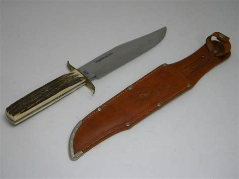 Solingen Tang Profesional 2 g c co solingen germany guttmann cutlery co solingen germany stag bowie sheath knife
