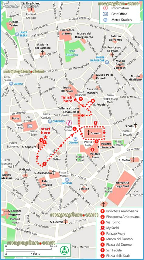 top attractions map milan map tourist attractions travelsfinders