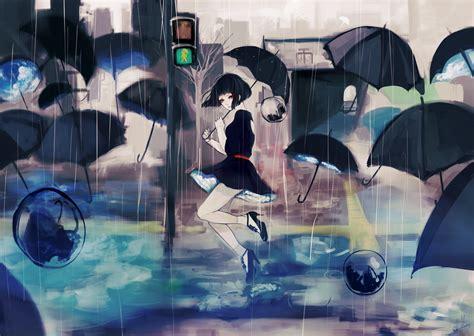 dancing anime girl live wallpaper umbrella girl full hd wallpaper and background image