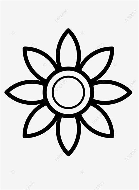 Planta Flor Flores Dibujo De Linea Negra , Planta, Flor