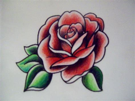 tattoo flash rose american traditional rose flash graphic marker and