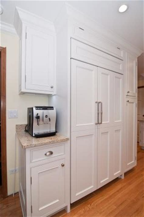 Replace Kitchen Cabinet Doors Fronts by Sub Zero Fridge Installation