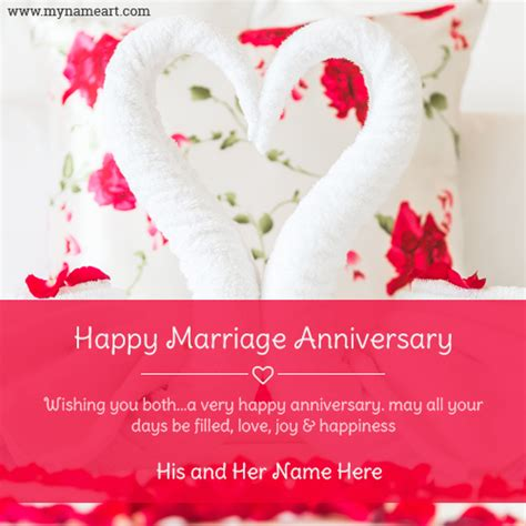 Wedding Anniversary Wishes Card Maker by Anniversary Wishes Towel Swan Pics With Name Wishes