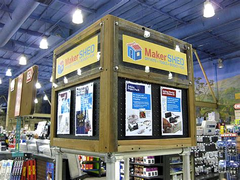 come see the new make magazine makersheds at frys