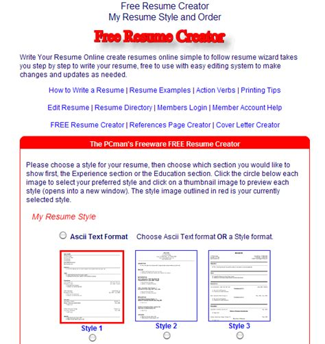 Free Resume Builder You Can Email Top 3 Websites To Build A Free Resume