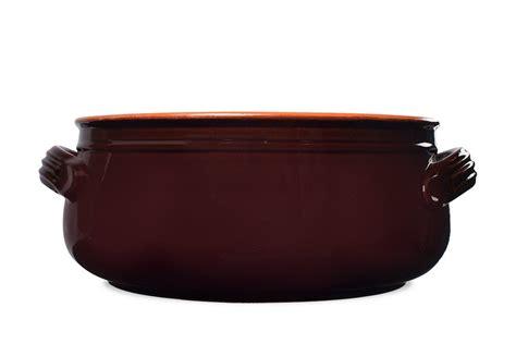 Tatakan Pot Segilima Diameter 27cm Handmade Terracotta Saucepot With Lid Brown 27 Cm