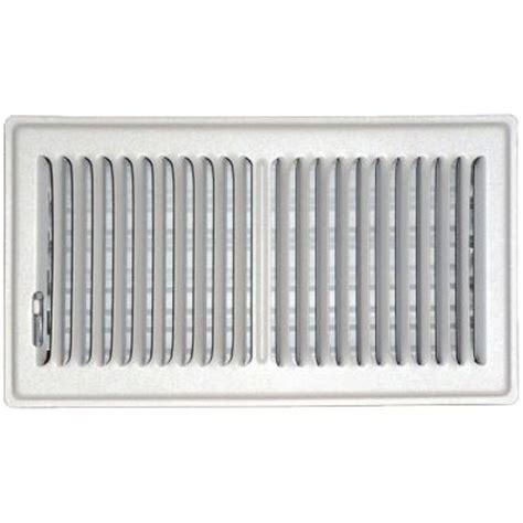 speedi grille 6 in x 10 in floor vent register white