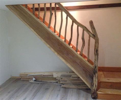 oak stair banister driftwood banister and stairs free range designs blog
