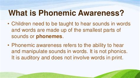 what does phonology mean phonemic awareness