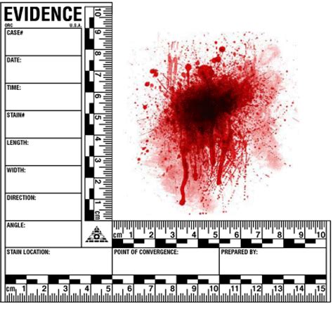 cm   cm adhesive bloodstain ruler latent forensics