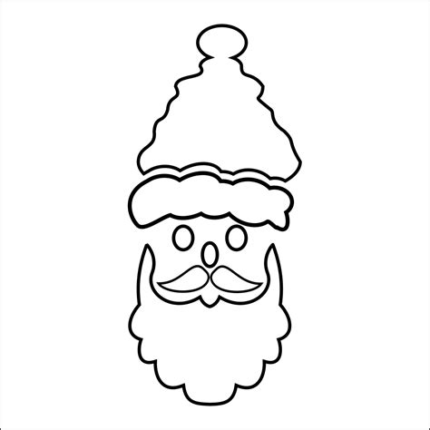 printable santa head father christmas stencil