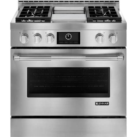 Oven Gas Convection jgrp536wpjenn air pro style 174 36 quot slide in convection gas range pro stainless big george s home