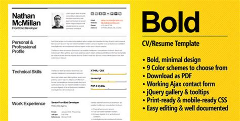 Smart Cv Format by 35 Best Cv Resume Templates Web Graphic Design