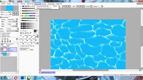 paint tool sai duplicate layer tutorial menggambar air kolam laut di paint tool sai