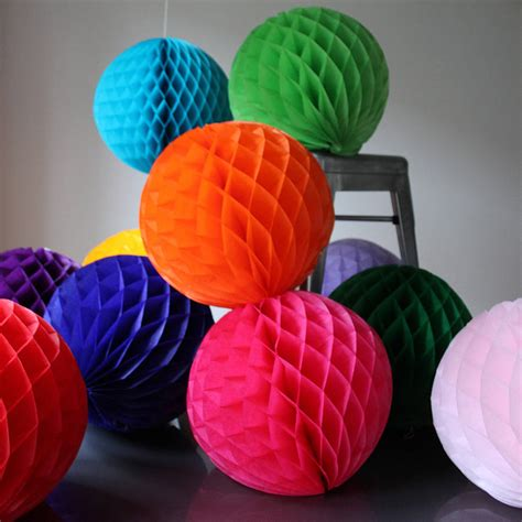 How To Make Tissue Paper Balls To Hang - paper luxe honeycomb tissue by pearl and earl